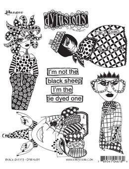 Dylusions Cling Mount Stamps Black Sheep Stamps Dylusions