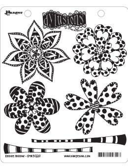 Dylusions Cling Mount Stamps Doodle Blooms