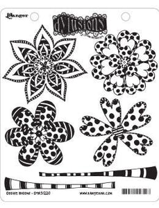 Dylusions Cling Mount Stamps Doodle Blooms Stamps Dylusions