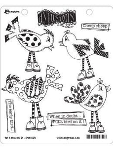 Dylusions Cling Mount Stamps Put a Bird On It Stamps Dylusions