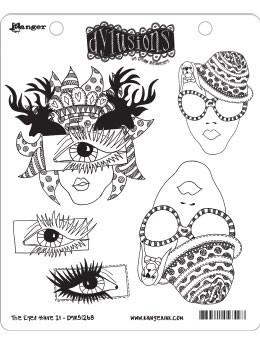 Dylusions Cling Mount Stamps The Eyes Have It