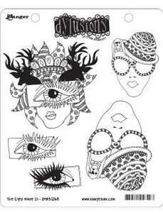 Dylusions Cling Mount Stamps The Eyes Have It Stamps Dylusions