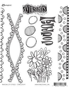 Dylusions Cling Mount Stamps Anatomy of a Page Stamps Dylusions