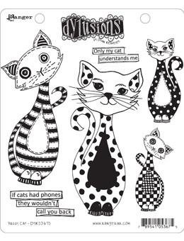 Dylusions Cling Mount Stamps Puddy Cat