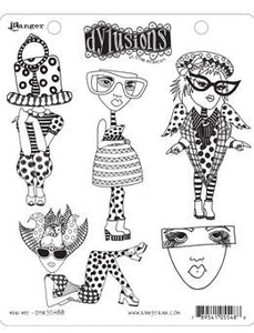 Dylusions Cling Mount Stamps Mini Me Stamps Dylusions