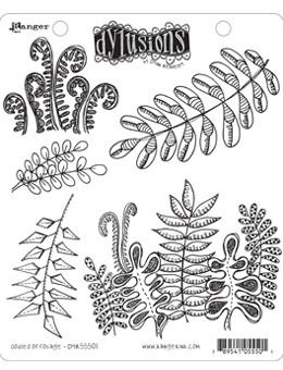 Dylusions Cling Mount Stamps Oodles of Foliage Stamps Dylusions