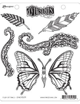 Dylusions Cling Mount Stamps Flight of Fancy