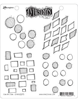 NEW! Dylusions Cling Mount Stamps Four by Four