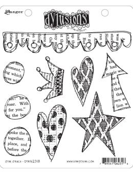 NEW! Dylusions Cling Mount Stamps Star Struck