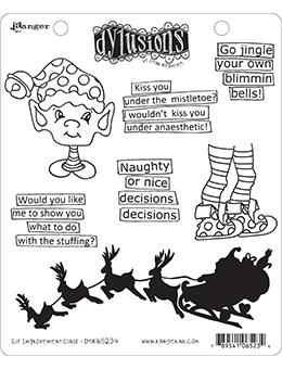 Dylusions Cling Mount Stamps Elf Improvement Class