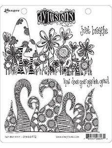 Dylusions Cling Mount Stamps Just Breathe Stamps Dylusions