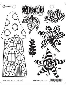 Dylusions Cling Mount Stamps Down in the Woods Stamps Dylusions