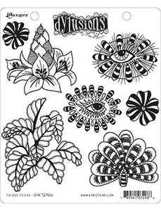 Dylusions Cling Mount Stamps Foliage Fillers Stamps Dylusions