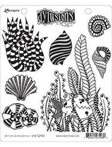 Dylusions Cling Mount Stamps She Sells Sea Shells Stamps Dylusions