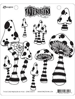 Dylusions Cling Mount Stamps There's Not Mushroom in Here! Stamps Dylusions