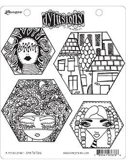 Dylusions Cling Mount Stamps A Head Start Stamps Dylusions