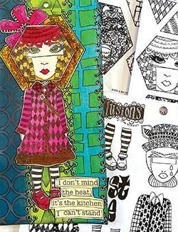 Dylusions Cling Mount Stamps Just Be Stamps Dylusions