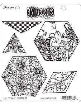 Dylusions Cling Mount Stamps Quilt As You Go Stamps Dylusions