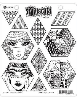 Dylusions Cling Mount Stamps Quiltalicious Stamps Dylusions