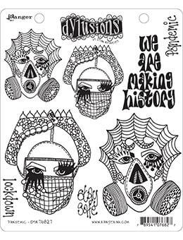 Dylusions Cling Mount Stamps Pandemic Stamps Dylusions