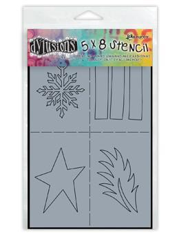 Dylusions Stencils Shapes Stencil Dylusions Small 5 x 8 Inches