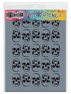 Dylusions Stencils Skulls Stencil Dylusions Large 9 x 12 Inches
