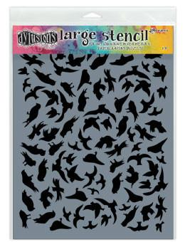 Dylusions Stencils Breeze of Birds Stencil Dylusions Large 9 x 12 Inches