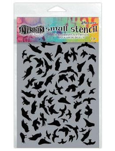 Dylusions Stencils Breeze of Birds Stencil Dylusions Small 5 x 8 Inches