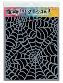 Dylusions Stencils Cobwebs Stencil Dylusions Large 9 x 12 Inches