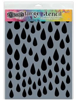Dylusions Stencils Raindrops Stencil Dylusions Large 9 x 12 Inches