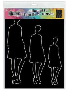 Dylusions Stencils Silhouettes Jay Stencil Dylusions