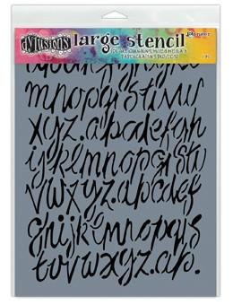 Dylusions Stencils Modern Script Stencil Dylusions Large 9 x 12 Inches
