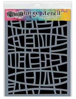 Dylusions Stencils Stained Glass Stencil Dylusions Large 9 x 12 Inches