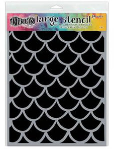 Dylusions Stencils Fishtails Stencil Dylusions Large