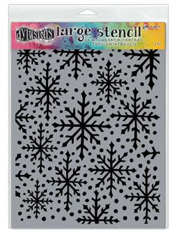 Dylusions Stencil Snowflake Stencil Dylusions Large