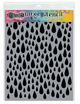 Dylusions Stencils Teardrops Stencil Dylusions Large
