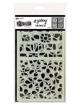NEW! Dylusions Dyalog Stencil - Doodle It