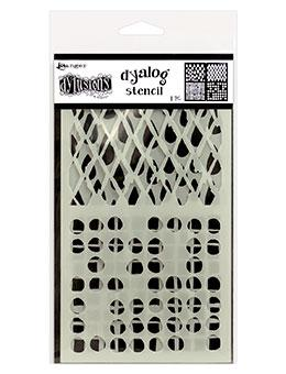 NEW! Dylusions Dyalog Stencil - Stencil It