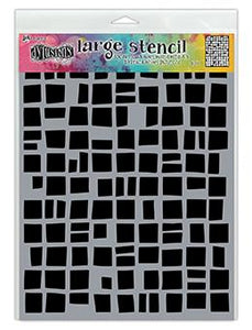 Dylusions Stencils Betsy's Block Stencil Dylusions Large 9 x 12