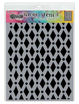 Dylusions Stencils Court Jester Stencil Dylusions Large 9 x 12