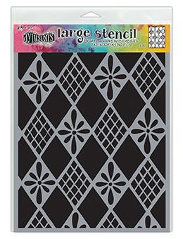 Dylusions Stencil Diamonds Are Forever Stencil Dylusions Large 9 x 12