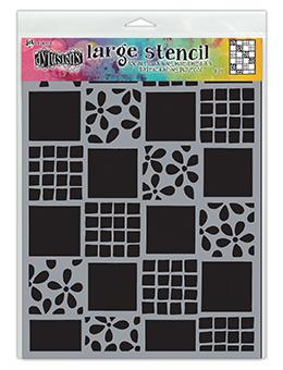Dylusions Stencil Square Dance Stencil Dylusions Large 9 x 12