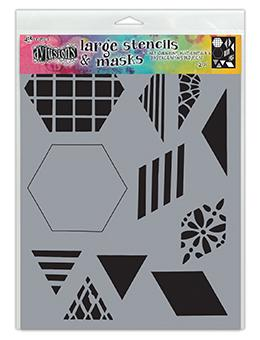 Dylusions Stencil 2 Inch Quilt Stencil Dylusions 2 Inch Quilt