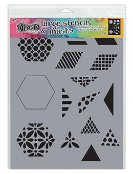 Dylusions Stencil 1 1/2 Inch Quilt Stencil Dylusions 1 1/2 Inch Quilt