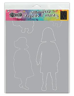 Dylusions Stencils Silhouette Edith Stencil Dylusions
