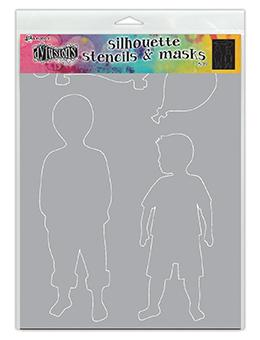 Dylusions Stencils Silhouette Otis Stencil Dylusions
