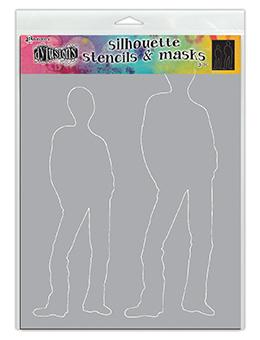 Dylusions Stencils Silhouette Tom Stencil Dylusions