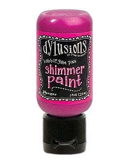 Dylusions Shimmer Paint Bubblegum, 1oz Paint Dylusions