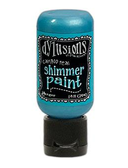 Dylusions Shimmer Paint Calypso Teal, 1oz Paint Dylusions
