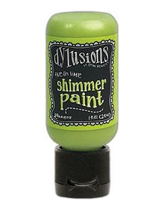 Dylusions Shimmer Paint Fresh Lime, 1oz Paint Dylusions
